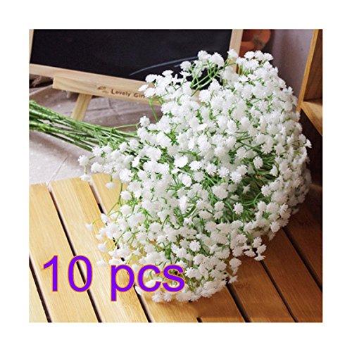 Flores gipsófila artificiales, paniculata, Oxforder, plástico, 10