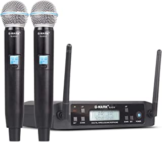 G-MARK GLXD4 UHF Wireless Microphone System handhled Cordless Professional Wireless Frequency Adjustable