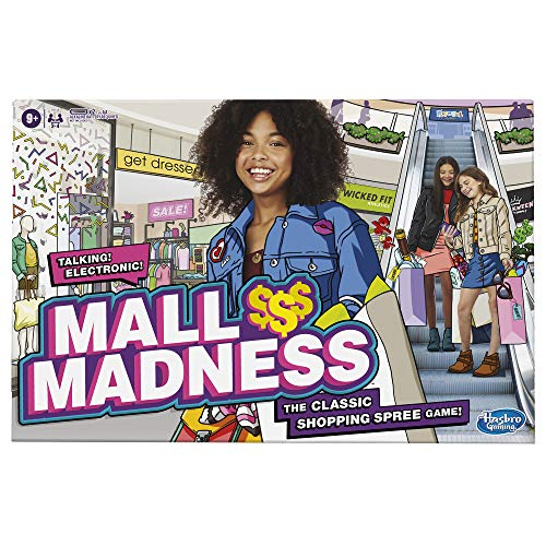 Mall Madness Game, Talking Electronic Shopping Spree Board Game for Kids Ages 9 and Up, for 2 to 4 Players