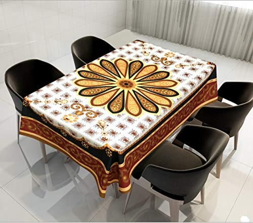 XXDD Mantel de hogar con patrón geométrico Complejo Impermeable, a Prueba de Polvo, Mantel de Restaurante Lavable A11 150x210cm
