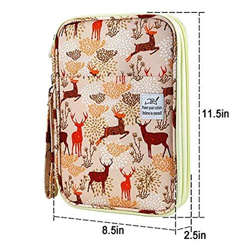 N / A Large Capacity Pencil Bag Case Organizer Kosmetiktasche für Buntstift Aquarell Pen Marker Gel Kugelschreiber Tasche wie Gezeigt