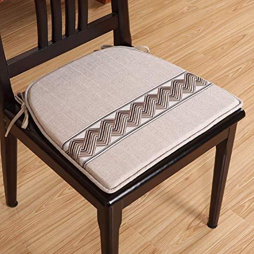 Cojín de silla de comedor clásico Cojín, almohadillas de asiento de patio espesante lavable interior al aire libre comida para el hogar decoración para el hogar silla de relleno transpirable Cojines l