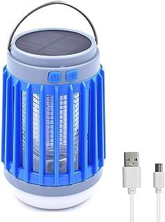Bonlux USB Impermeable Solar Led UV Lámpara Electrónica de Antimosquitos, Led Luz Mata Mosquitos para Exterior, Interior, Camping, Jardín, Playa