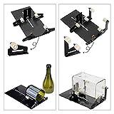 Tagliavetro Bottiglie Professionale, Taglierina per Bottiglia di Vetro di Vino Birra, Diamante Taglierino Vetro Bottiglia Acciaio inossidabile Cutter Riutilizzazione DIY