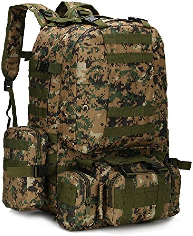 Otomoll 55 L Drei Drei Drei Kombinierten Multifunktionale Tasche Rucksack Für Radfahren   Reiten   Wandern   Camping Bergsteigen Militär, F B077PV7844  Bestellungen sind willkommen d7ee46