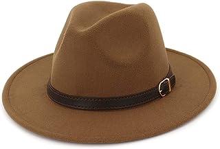 قبعة فيدورا للرجال والنساء من ليسيانثوس - حزام مشبك قبعة بنما بحافة واسعة
