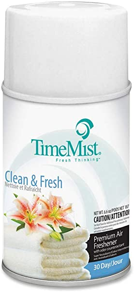 TimeMist 332502TMCACT 6 6 Oz Aerosol Metered Clean N Fresh Fragrance Dispenser Refills 12 Pack