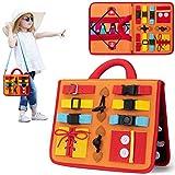 teytoy Busy Board Montessori Spielzeug, Lernspielzeug für Kleinkinder Spielzeug zum Erlernen grundlegender Fertigkeiten in der Lebenskleidung, Beschäftigtes Brett für Kleinkinder 1 2 3 4-jährige
