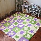 Fenfen Rompecabezas para niños Tapetes de Espuma Dormitorio Puzzle Esponja Gateando Tatami Floor Mats35 Piezas, 30 * 30 * 1cm (Color : 4)