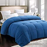 Starcast All Season Down Alternative Comforter Twin Size Hotel Luxury Soft Quilted Bed Comforter Reversible Duvet Insert with Corner Tabs- Hypoallergenic Fluffy Lightweight (64'x88', Navy)