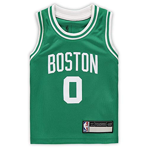 NBA Kids 4-7 Official Name and Number Replica Home Alternate Road Player Jersey (7, Jayson Tatum Boston Celtics Green)
