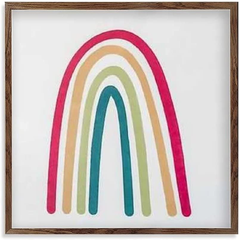 by Unbranded Rainbow Framed Wood Room Regular dealer Dealing full price reduction Kids Playroom Nursery Sign