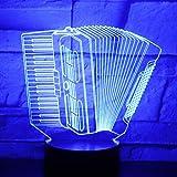 3D Led Nachtlicht Akkordeon Musik Entsafter Mit 7 Farben Licht Für Hauptdekoration Lampe...