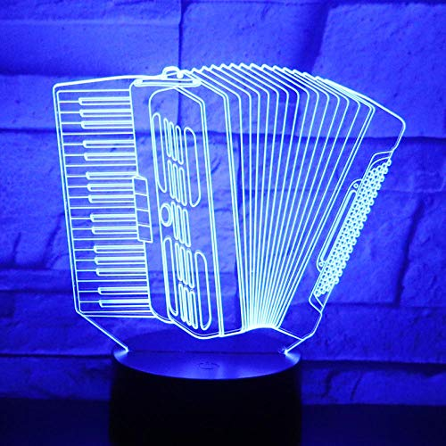 3D-Illusionslampe Führte Nachtlicht-Akkordeon-Raclette-Musik Mit 7 Farben Für Hauptdekoration Erstaunliche Optische Visualisierung