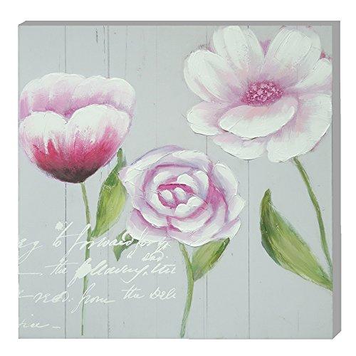 EMDE CH112001-1 Toile Tulipe Rose et Cosmos