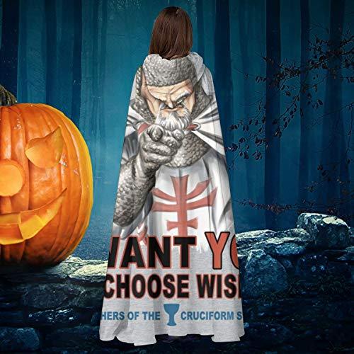 OJIPASD Indiana Jones To Sam Elija Wisely Unisex Navidad Halloween bruja caballero con capucha bata de vampiro capa de disfraz de cosplay