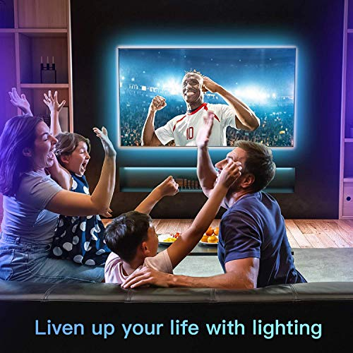 LED Strip Lights 16.4ft x 2 Rolls 5050 RGB Color Changing Lights Waterproof Flexible Tape 300 LEDs Light 32.8ft Strips Kit with IR Remote Controller Power Kit for Home Bedroom Kitchen DIY Decoration 2