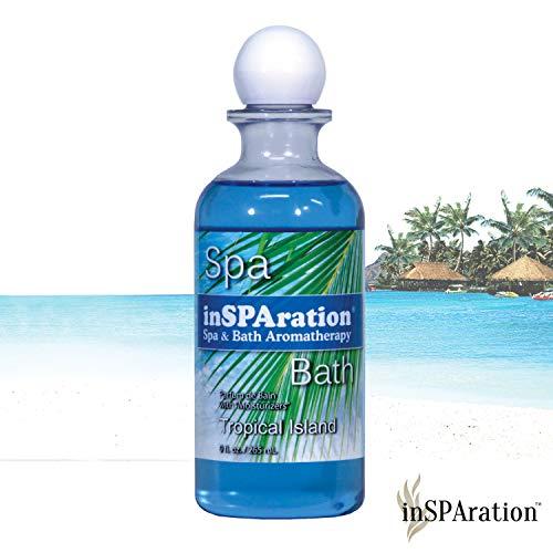 inSPAration Spa and Bath Aromatherapy 370X Spa Liquid, 9-Ounce, Tropical Island