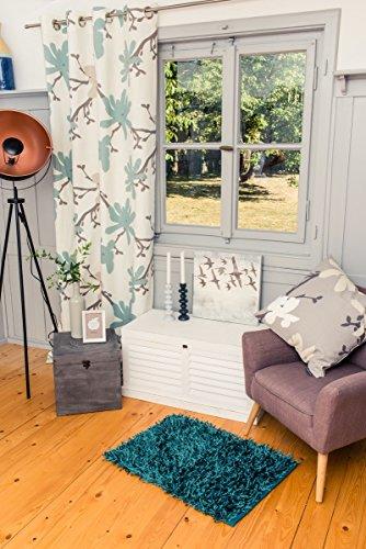 Gözze Langpolig tapijt Badmat Sparkle 60x100cm Petrol