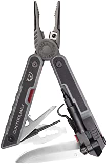 Real Avid Gun Tool Max- 37-in-1 Gun Multitool with 20 Gun Tools, 12 bits, and Black MOLLE Sheath