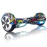 TOEU - Patinete Eléctrico Hoverboard, Ruedas de 6.5', Leds, Potente batería de Litio, Bluetooth, Self Balancing, monopatín eléctrico Auto-Equilibrio (Hiptop)