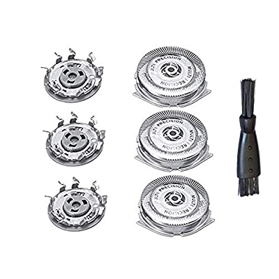 3PC SH50/50 Replacement Blades Fits Philips Series 5000 Electric Shavers by Small April