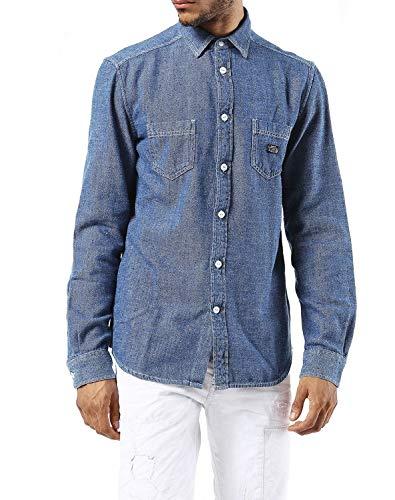 Diesel S-Gab Camisa Hombre (S, Azul)