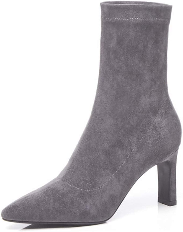 1TO9 Womens Dance-Ballroom High-Heels Solid Urethane Boots MNH03673