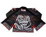 Raven Fightwear BJJ Gi Thor Nero Men's Brasiliano Jiu Jitsu Kimono Uomo MMA Uniform Cotone Judo Grappling Arti Marziali Karate A4