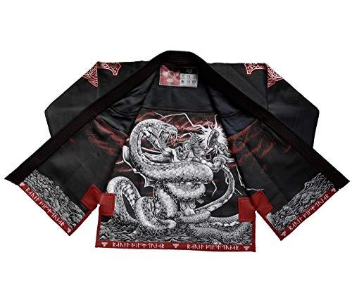 Raven Fightwear BJJ Gi Thor Men's Bianco Nero Grigio Brasiliano Jiu Jitsu Kimono Uomo MMA Uniform...