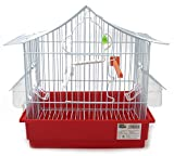 BPS Jaula para Pájaro Pajarera Periquito Canarios con Comedero Bebedero Saltado Perchas para Descanso Color al Azar 27.5X19.5X29 cm BPS-1169