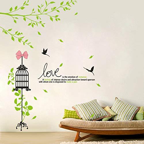 Decoratieve stickers voor de kooi om zelf te maken, behang, voor woonkamer, slaapkamer, milieuvriendelijke sticker van PVC, 60 x 90 cm
