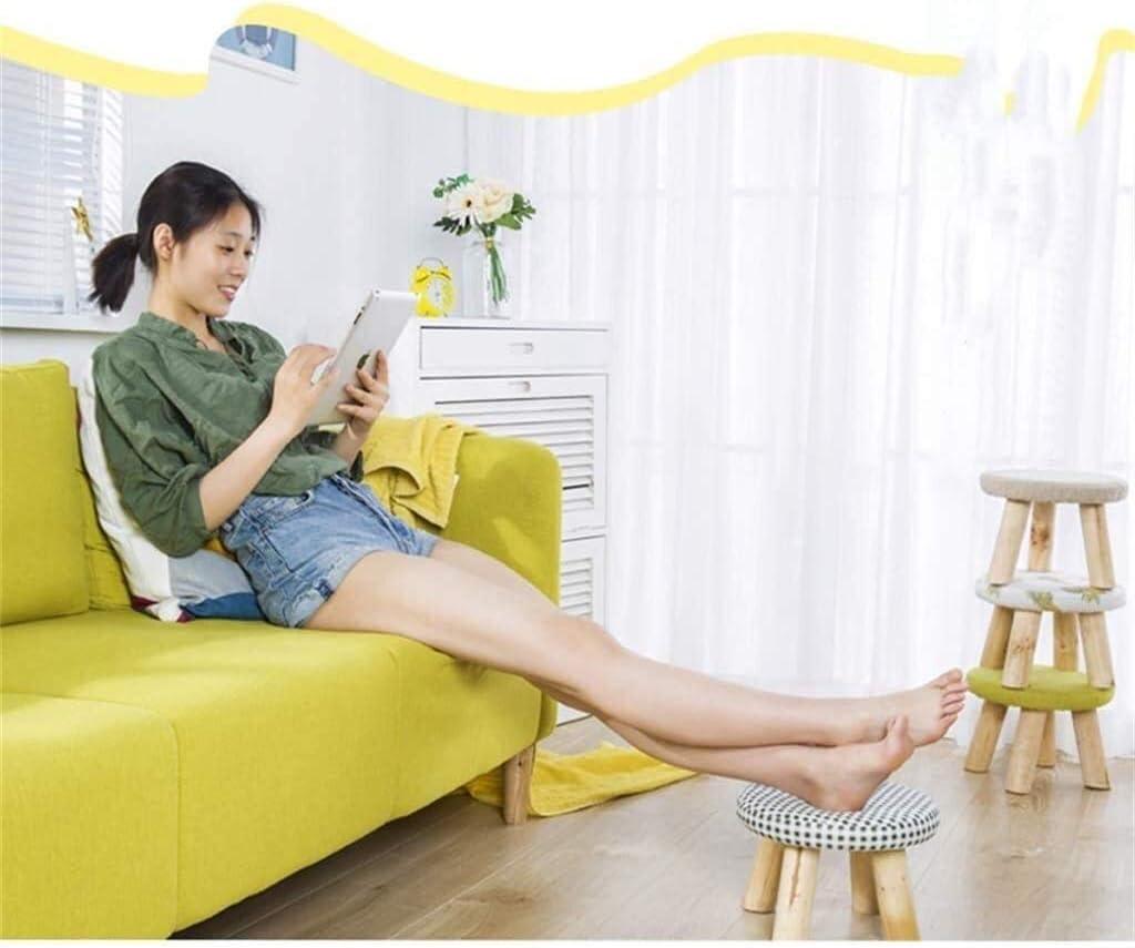 Léger doux Repose-pieds, en bois massif confortable Repose-pieds Chambre Salon Portable Compact Pouffe Tabouret for des chaussures Wearing 1112 (Color : Red) Green