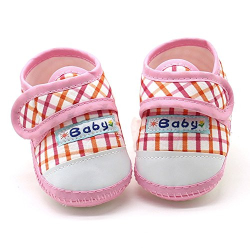 Nyuiuo Recién Nacido Infantil Bebés Y Niños Niñas Suela Suave Zapatos Planos Cálidos Zapatos De Bebé con Estampado De Cuadros Escoceses Zapatos De Fondo Suave Zapatos De Lona Antideslizantes