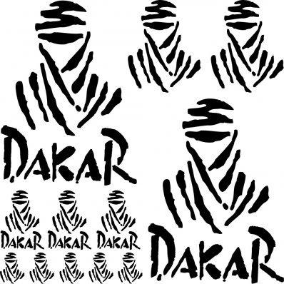 Adhesivo Pegatina ,Sticker texto y logo varias dimensiones ,,Kit Adesivo dakar ,, (NEGRO): Amazon.es: Coche y moto