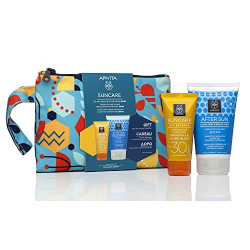 Apivita SUNCARE Pack Crema solar facial SPF30 - Oil Balance + Regalo Aftersun 100ml + Regalo Neceser