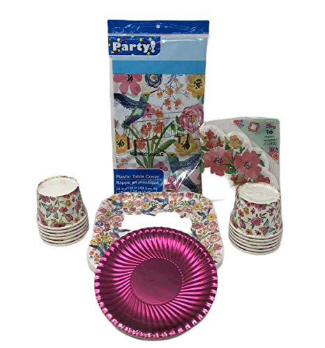 Find Bargain Party Bundle! Dinner Plates! Dessert Plates! Napkins! Tablecloth! Ice Cream Cups! Beaut...