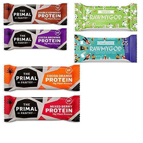 High Protein Snackriegel Probierpaket - 6 Riegel von Primal Pantry & RawMyGod