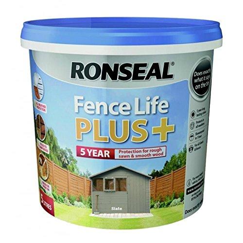 Ronseal RSLFLPPS5L FLPPS5L Fence Life Plus+ Slate 5 Litre, 5L