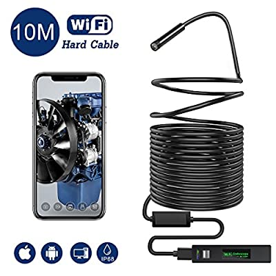 Snake Camera Wifi,Gruper Wireless Endoscope Inspection Camera 2.0 Megapixels HD Wifi Borescope Camera for Android and iPhone,IOS Smartphone,Tablet,Ipad