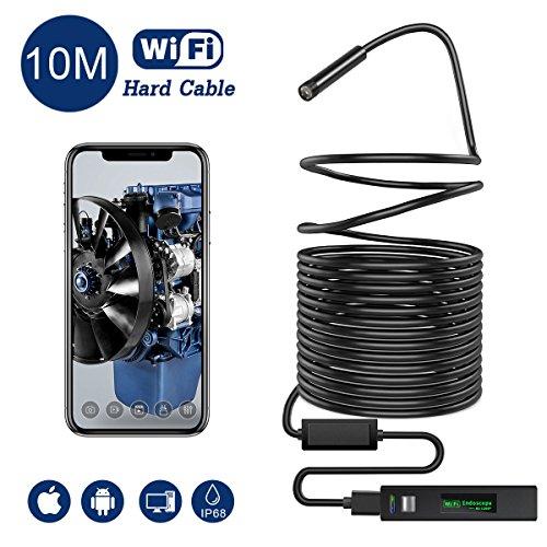 Snake Camera Wifi,Gruper Wireless Endoscope Inspection Camera 2.0 Megapixels HD Wifi Borescope...