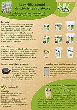 l'herbe Haute ® Terre de Diatomée Blanche Alimentaire - 10 kg Seau avec souffleuse - Utilisable en Agriculture Biologique - Origine Naturelle sans Transformation Chimique - Nombreux usages