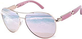 FONHCOO Sunglasses for Women Oversized Metal Frame UV400 Polarized Sunglasses