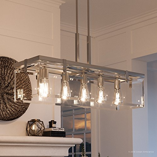 Luxury Modern Farmhouse Chandelier, Large Size: 15.75'H x 36.75'W, with Industrial Chic Style...