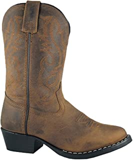 Smoky Mountain Boots Youth Boys Denver Brown Oiled Leather Western 3.5 D