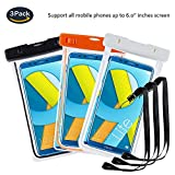 pinlu® Pack of 3 IPX8 Waterproof Case for Smartphones up