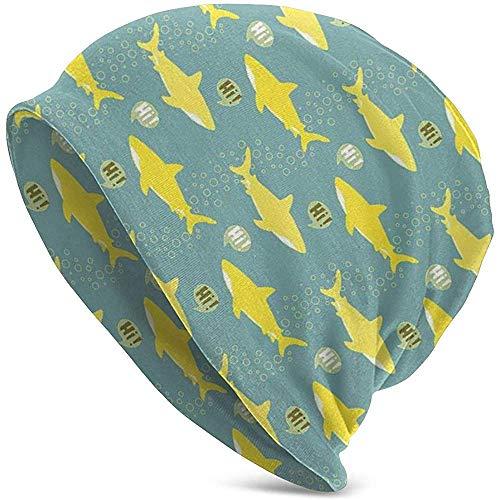 GodYo Unisex Beanie Caps Shark Silhouetten Zagen Hallo vis gebreide muts Skull Cap Winter zomer Warm Vrouwen Mens Hats Black