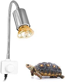 爬虫類ライト 亀ライト バスキングライト 爬虫類 両生類用ライト,25W 照明 長時間 バスキングライト 360°回転設計 UVA+UVB ランプ付き 熱帯 亜熱帯 トカゲ 水族館用
