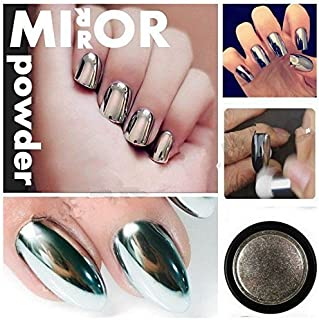 Stylazo Born Pretty 10g Silver Nail Mirror Metallic Effect Chrome Powder Dust Pigments Nail Art Decoration
