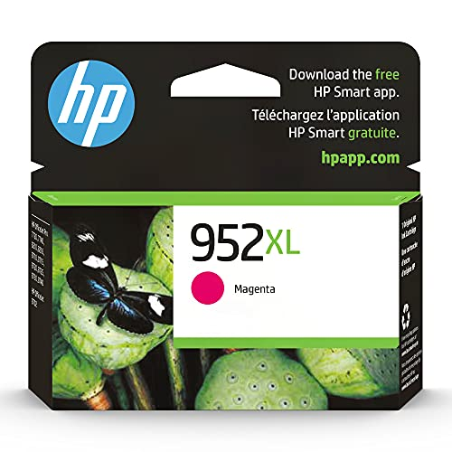 Original HP 952XL Magenta High-yield Ink Cartridge | Works with HP OfficeJet 8702, HP OfficeJet Pro 7720, 7740, 8210, 8710, 8720, 8730, 8740 Series | Eligible for Instant Ink | L0S64AN